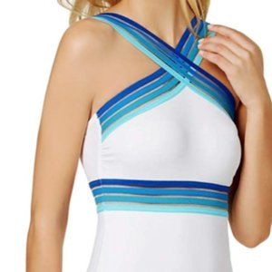NEW!!! Kenneth Cole Swimsuit Mesh Illusion Ombre